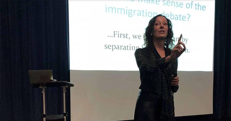 Dr. Anita Casvantes Bradford Lectures at OLP On Catholic Leaders