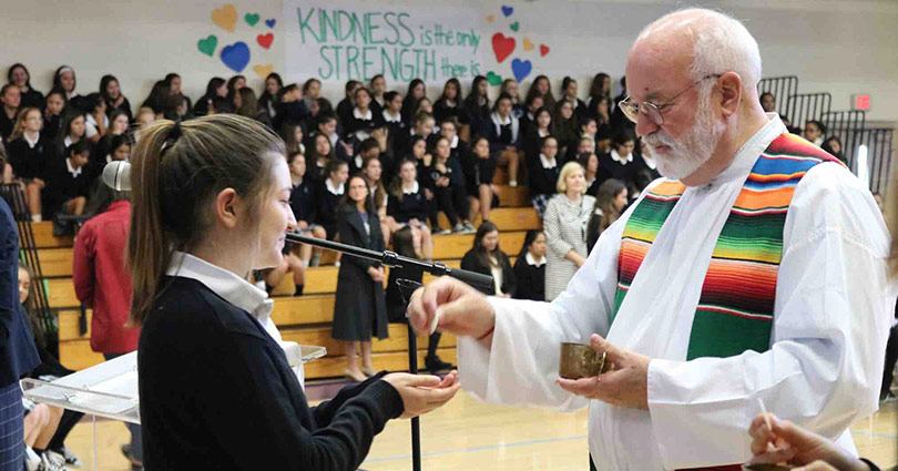 Father Greg Boyle, Founder of Homeboy Industries, Celebrates Mass at Academy of Our Lady of Peace