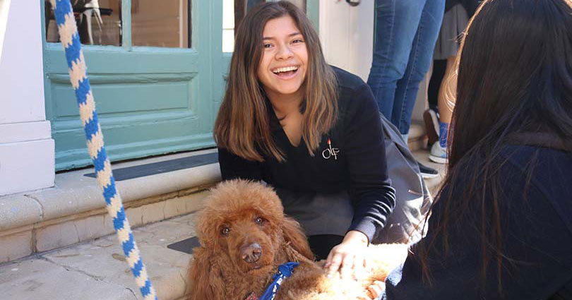 The San Diego Humane Society Visits Academy of Our Lady of Peace
