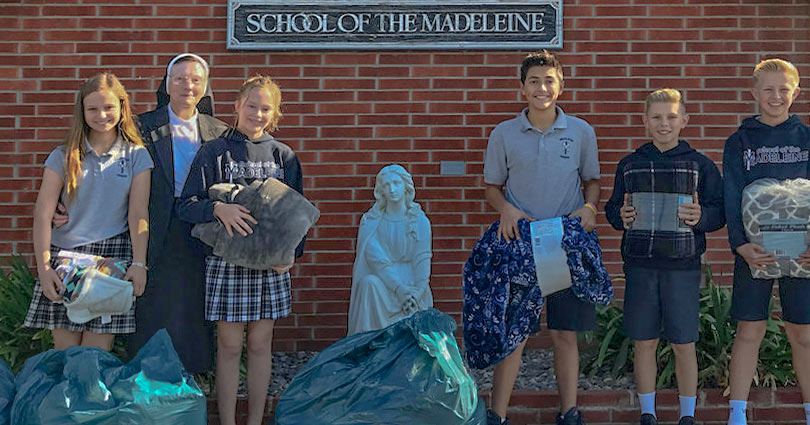 School of the Madeleine Sending Warmth to Those in Need