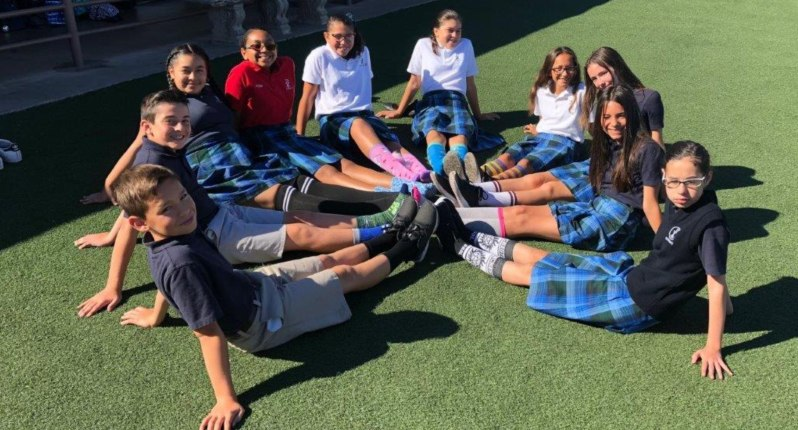 "St. Pius X students answer the question ""Got socks?"""