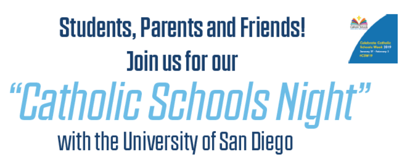 """Tip-Off"" Catholic Schools Week at USD Men's Basketball Game on January 26"