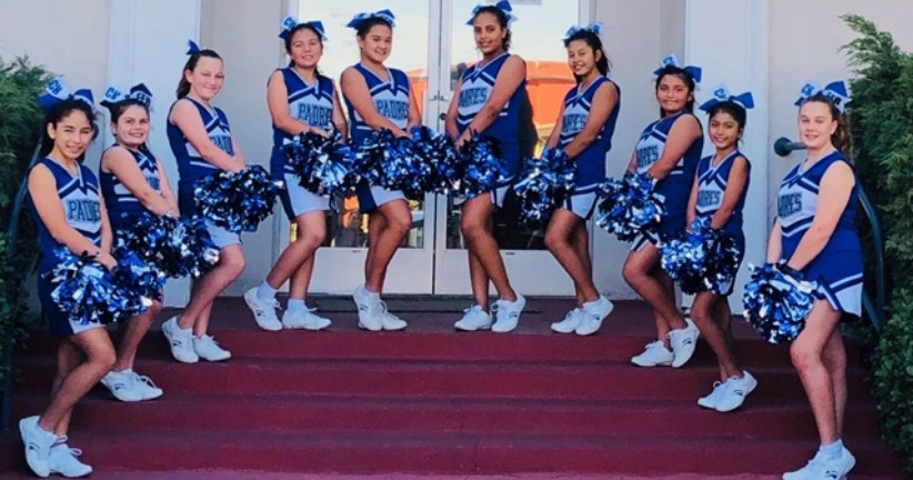 Cheerleaders Show Their Spirit at St. Didacus School